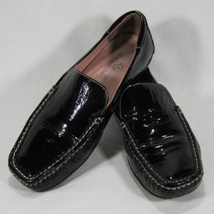 Cole Haan Blk Patent Leather Driving Shoes Sz: 7.5